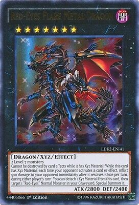 Red-Eyes Flare Metal Dragon (LDK2-ENJ41) - Ultra Rare - Near Mint - 1st Edition