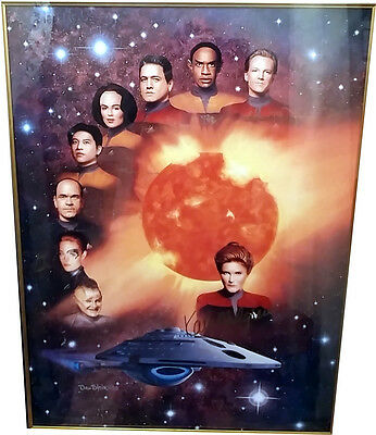 """Star Trek - Voyager Cast Signed Poster with COA 24"""" x 32"""""""