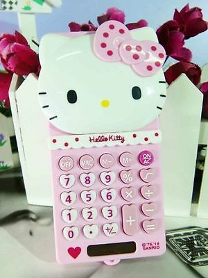 New Cute Stretch HelloKitty Basic Electronic Calculator 8 Digitals GS-518