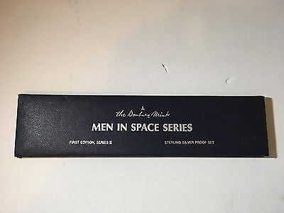 1st Edition,Series II MEN IN SPACE SERIES Danbury Mint Sterling Silver Proof Set