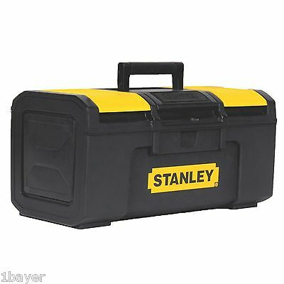 STANLEY 16-Inch Black and Yellow Auto Latch Tool Box