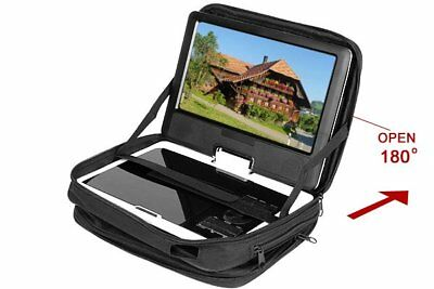 "UK 9"" To 9.8"" Portable DVD Player Carry Bag Case Car Headrest Mount Black Strap"