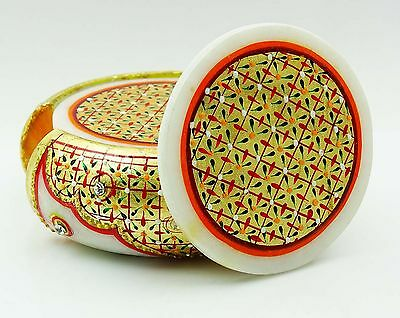 Hand Painted Decorative Beautiful Coaster Solid Marble Home Dacor CD470A