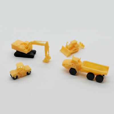 Outland Models Railway Miniature Heavy Construction Vehicle Set Z Gauge 1:220