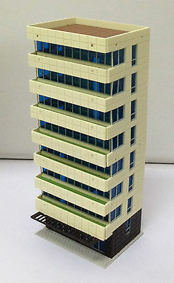 Outland Models Railway Colored Modern City Building Tall Apartment N Gauge