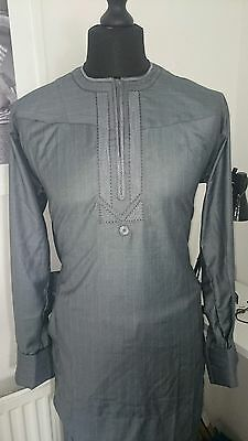 African Men wear Wool Fabric Top embroidery with adjustable trouser for men L