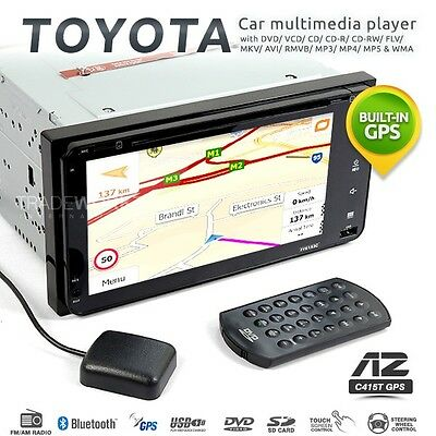 AZUR 200mm TOYOTA Double DIN GPS Ready Car DVD Player Headunit (Japan) Stereo