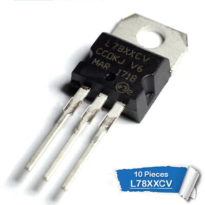 10psc  L78XXCV VOLTAGE REGULATOR 5V,6V,8V,9V,10V,12V,15V