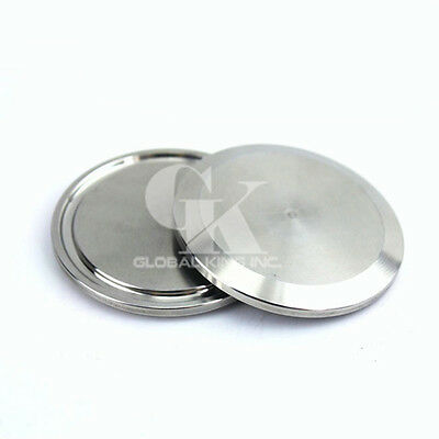 """Stainless Steel Sanitary End Cap For 3/4""""~6-1/4"""" Tri-Clamp End Pipe Blank Flange"""