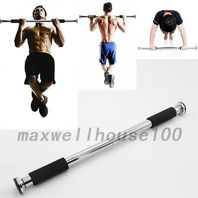 Door Home Gym Bar Exercise Workout Chin Up Pull Up Sit Fitness Iron New