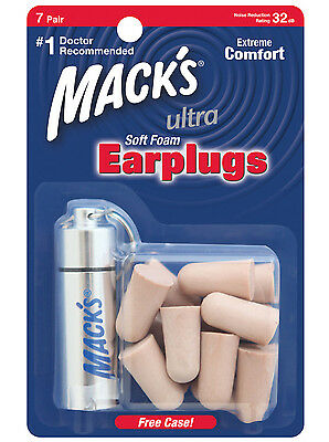 Macks Sleep Travel Sport Earplugs - Mack's Ultra Soft foam 7 Pairs Ear plugs