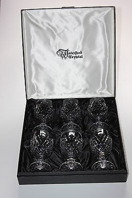 Waterford Crystal, Boxed Set Of 6 Claret, Wine Glasses.