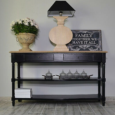 Console Table Rtv Sideboard 2 Drawers Vintage Wooden French Provencal Style