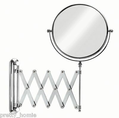 IKEA Extendable Magnifying Bathroom Mirror-NEW! stainless steel for makeup