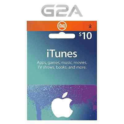 iTunes Gift Card $10 USD - 10 Dollars USA Apple Store Code - Apple iTunes Key