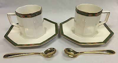 Vintage Yamaka David Jones Tea Time Collection with gold plated spoons