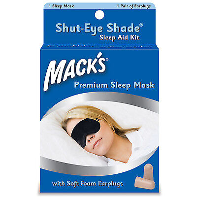 Mack's Premium Sleep Mask - MACKS Shut Eye Shade Sleep Aid for sleeping Travel