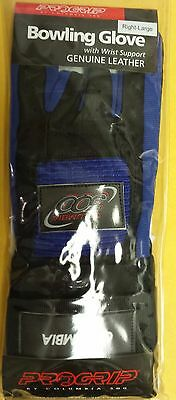 NEW Columbia 300 ProGrip Wrist Support Glove Large Right Black Blue FREE SHIP