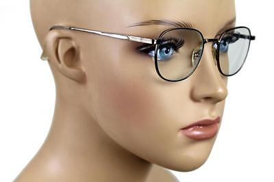 New Kid's Retro Child's Vintage Small Round Clear Seeing Glasses Silver S-600