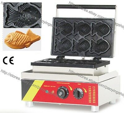 Commercial Nonstick Electric Korea Fish Waffles Taiyaki Maker Iron Baker Machine