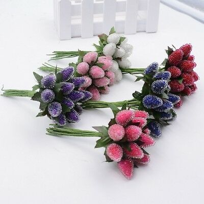 12pcs Christmas Decoration home decor Cherry Berries Artificial Flower Wedding S