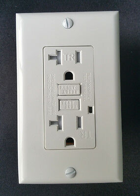 GFCI GFI Tamper Resistant Safety Outlet Receptacle - White, UL2008, 10 Pack