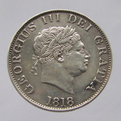 George III, silver halfcrown, 1818, VF