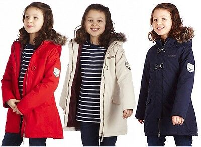 Regatta Greta Girls Hooded Waterproof Insulated Lined Jacket