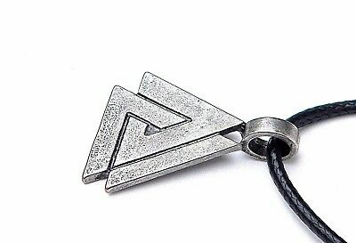 New Viking Valknut Pendant Necklace, Odin's Knot, Protection Symbol.