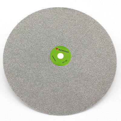 "Grit 80 Diamond coated 10"" inch Flat Lap wheel Lapidary lapping polishing disc"