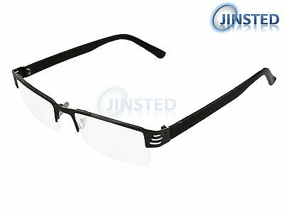Half Rim Reading Glasses Spec Light Spectacles Dark Silver Long Sighted RG033