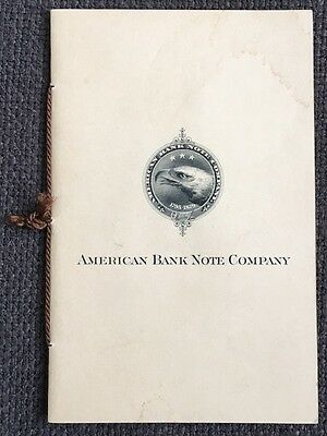 AMERICAN BANK NOTE Co. SPECIMEN BOOKLET (SOME WATER STAIN) PAHV533