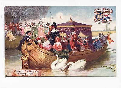 (#382) King Charles I Queen Henrietta Oxford Pageant England 1907 TUCK Postcard