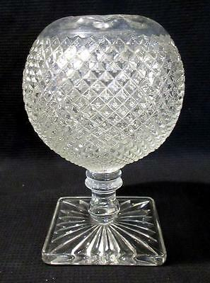 """Vintage Westmoreland Glass """"English Hobnail"""" Vase Clear 7in Tall"""