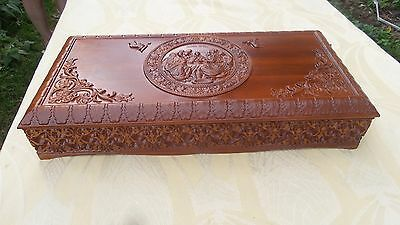 New Orthodox Carved Wooden Reliquary box. Rare! Large size.