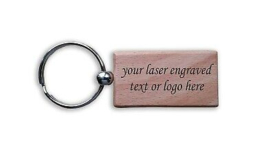 Wooden Laser Engraved  Personalised Gift Key fob