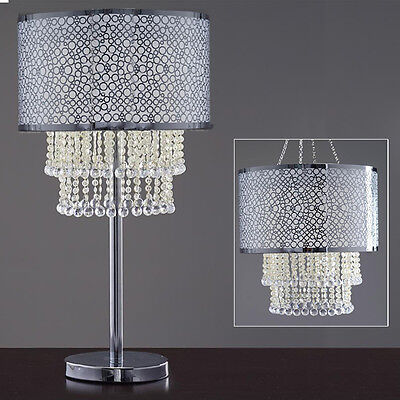 """SILVER 13"""" wide Faux Crystals Beaded Centerpiece Wedding Party Decorations SALE"""