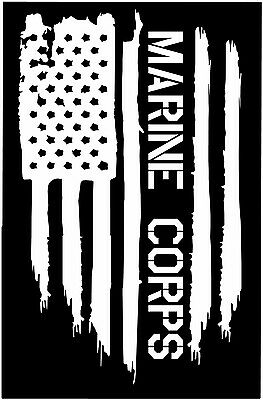 American flag USMC Marine Corps USA Military vinyl die cut sticker decal