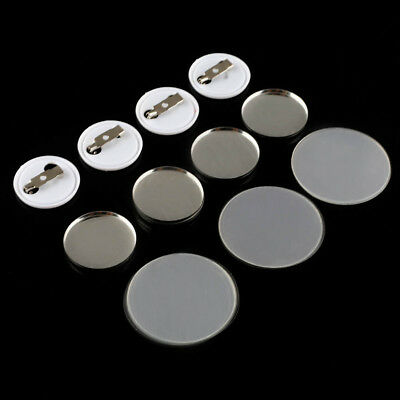 25mm Round Button Badge Plain Metal Plate Pin Badge Maker Parts Components 100PC