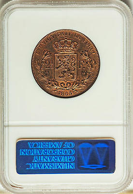 1865 Belgium 2.5  2 1/2 Francs NGC PROOF 65 The Great Rarity of Belgium Coins