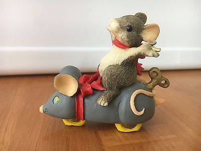 Charming Tails My New Toy Mouse Figurine Dean Griff Vgc