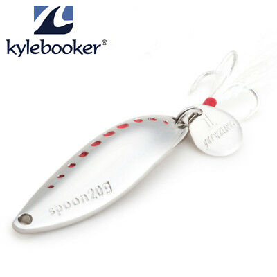 Kylebooker Leech Spoon Lure Metal Hard Fishing Lures Spoons Crakbait