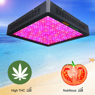 MarsII 1600 LED Grow Light Full Spectrum Indoor Veg Flower Panel True Watt 632W