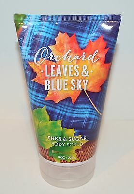1 Bath & Body Works Orchard Leaves Blue Sky Shea Body Scrub Wash New Large 8 Oz