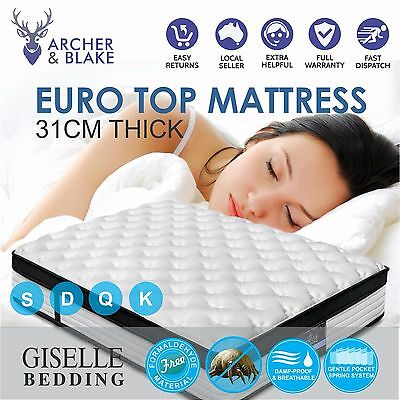 Giselle Bedding Euro Top Mattress Queen Single Double King