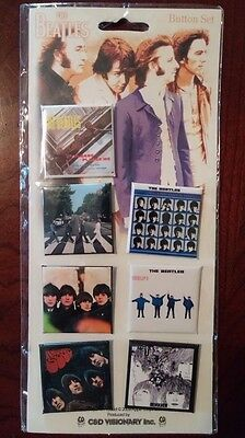 Beatles Album Cover Pins/Buttons Set of 7 C&D Visionary Brand New w/ FREE SHIP