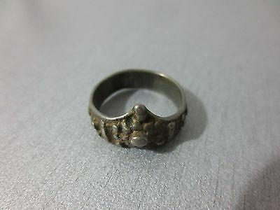 GORGEOUS 18-19th. CENTURY ANTIQUE OTTOMAN EMPIRE SILVER ALLOY FOLKLORE RING