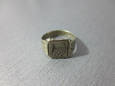 GORGEOUS ANTIQUE SILVER ALLOY RING Year 1892 / 19th. Century FOLKLORE