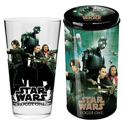 Star Wars Rogue One Glass in Tin Gift Pack Christmas Birthday Man Cave STW009E1