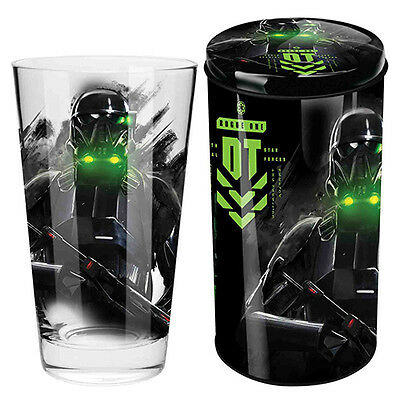 Star Wars Rogue One Death Trooper Glass in Tin Gift Pack Christmas STW009E3